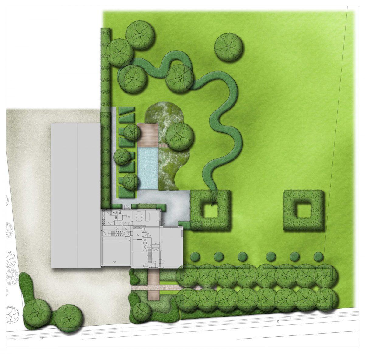Sfeerbeeld van een plan voor een privé tuin in Kasterlee