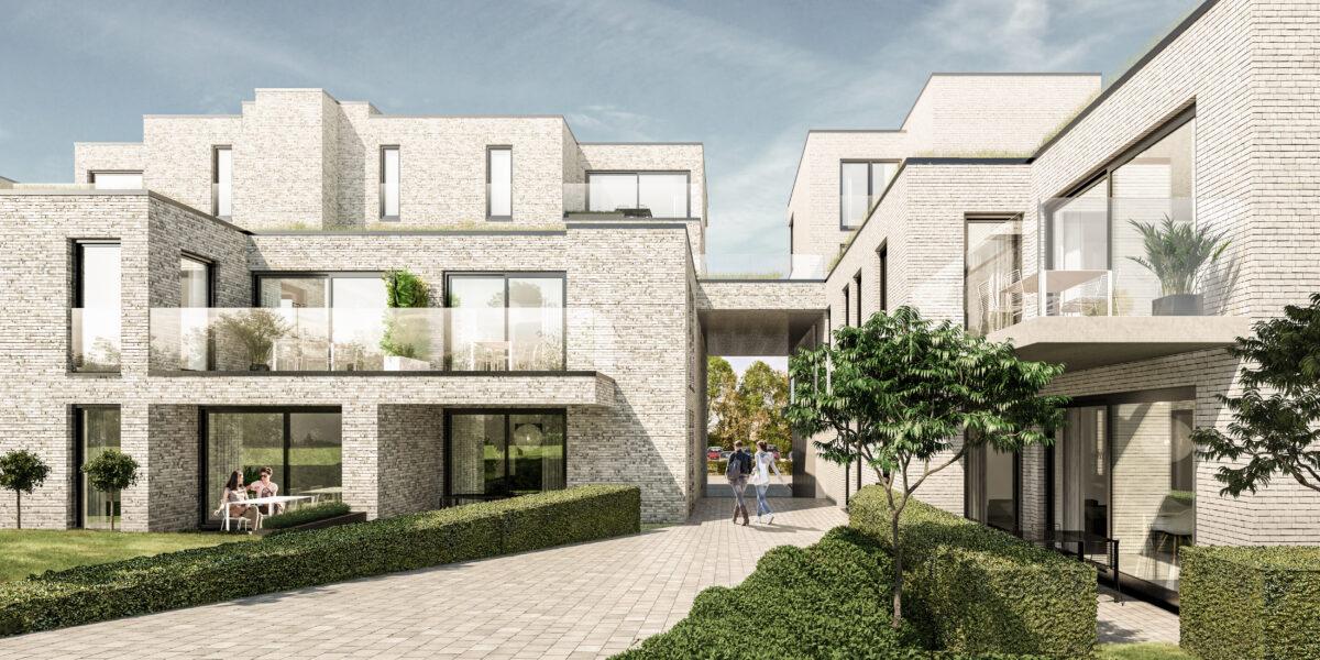 Sfeerbeeld van het plan voor het woonproject aan het station van Diepenbeek