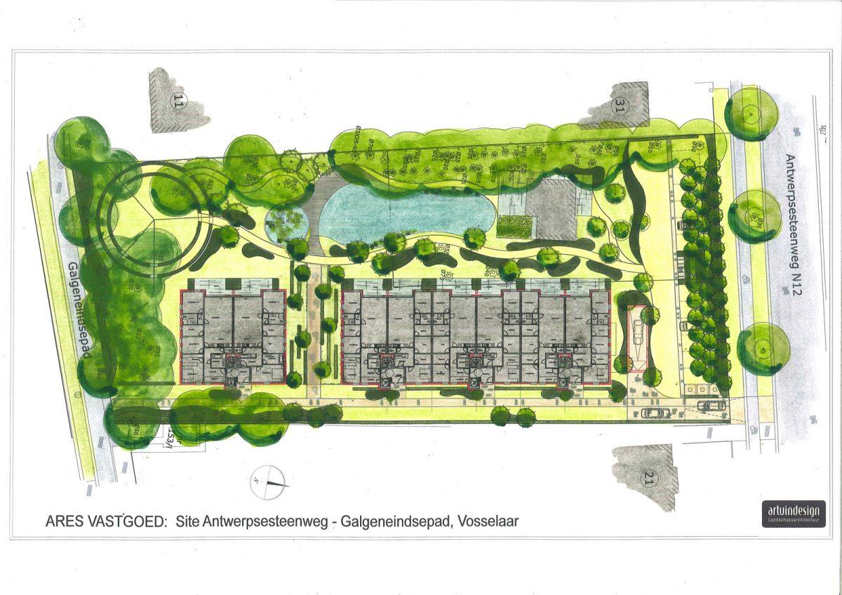 Sfeerbeeld van de projectontwikkeling van de realisatie in Vosselaar