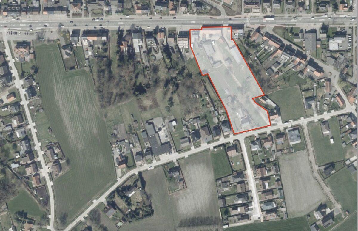 Sfeerbeeld van het grondplan voor het bouwproject met leefpark in Oostmalle